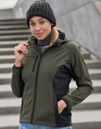 Ladies Hooded Lightweight Performance Softshell